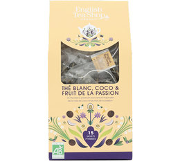 English Tea Shop White Tea Coconut & Passion Fruit - 15 tea bags