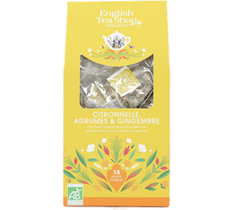 English Tea Shop Organic Lemongrass Citrus and Ginger - 15 tea bags