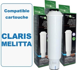 Lot de 3 Cartouches filtrantes Filter Logic FL701-B compatibles Claris Melitta