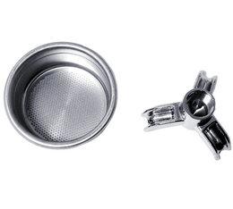 Kit filtre simple 3 tasses (21 g.) 58mm + bec 3 tasses 3/8 pour machine expresso