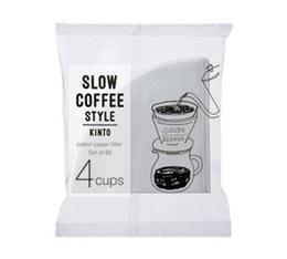 Filtre conique 4 tasses blanc Kinto SCS-04-CP-60 x 60