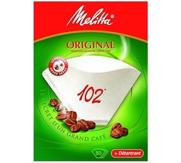 Melitta Original filters size 102 x 80 + 1 sachet of descaler