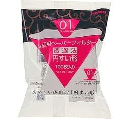 Filtre papier conique pour dripper v60 VDC-01 Hario x100