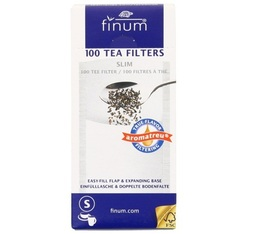 Filtre à thé x 100 pour 4 tasses - Finum