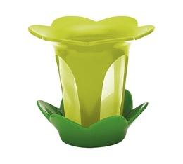 Filtre à thé fleur avec soucoupe vert kiwi et vert basil - Zak!designs
