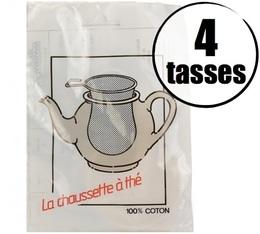Filtre à thé 100% coton 4 tasses