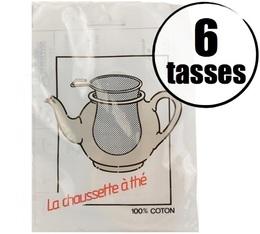 Filtre à thé 100% coton 6 tasses