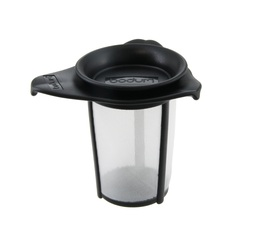 Yo-Yo tea filter made from nylon with black lid by Bodum