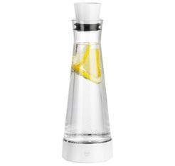 FLOW SLIM FRIENDS carafe avec bloc refroidissant - verre/white - 1L - EMSA