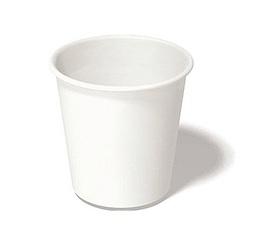 100 gobelets en carton blanc  12 cl