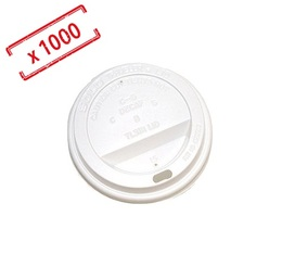 1000 Couvercles blancs pour gobelets 21cl - Selection Maxicoffee