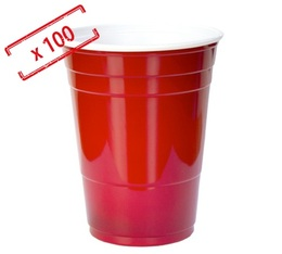 100 gobelets américains rouges - 50 cl (red cups officiel)