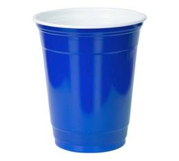 50 gobelets américains bleus - 50 cl (blue cups officiels)