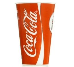 80 Gobelets Coca-Cola carton gradués - 25cl