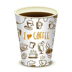 80 gobelets 15cl en carton - I love coffee - Vendin