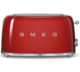 Grille-pain 4 tranches Années 50 Rouge - SMEG