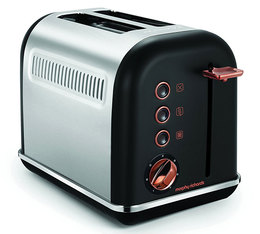 Toaster Accents 2 tranches Noir Rose Gold - Morphy Richards