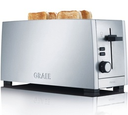 Grille pain Graef TO100EU 2 fentes larges inox