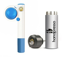 Handpresso set - Blue Handpresso Pump Pop travel coffee maker & Thermo-flask