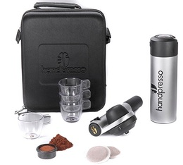 Grey Handpresso Pump travel set for ESE pods & ground coffee