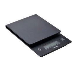 Hario V60 drip scale with timer in black