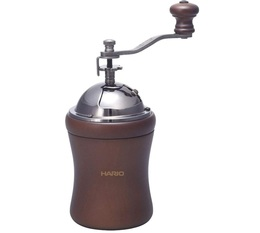 Hario Dome coffee grinder with natural wood