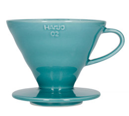 Hario V60 dripper in turquoise ceramic for 1-4 cups