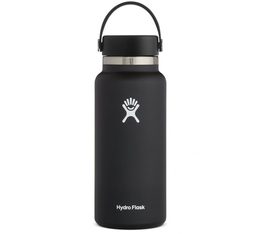 Hydro Flask Wide Mouth Bottle Black - 95cl (32oz)