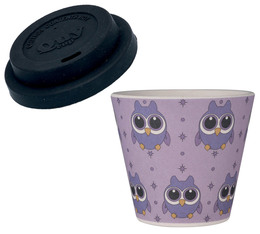 QuyCup 'Owl' eco-friendly espresso cup with lid - 90ml