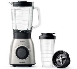 Blender HR3556/00 jarre en verre + tumbler - Phillips