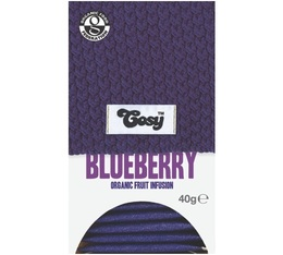 Organic blueberry infusion - 20 individually-wrapped tea bags - Cosy