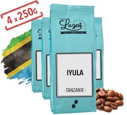 Café en grains : Tanzanie - Iyula - 1kg - Cafés Lugat