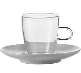 2 Tasses expresso Verre et porcelaine 10cl - Jenaer