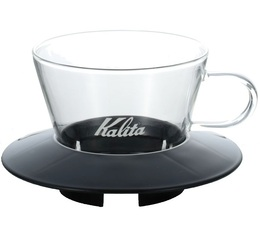 4-Cup Kalita Wave Dripper 185 in black/glass