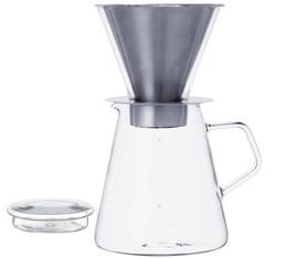 Cafetière Kinto Carat conique verre / inox 6 tasses