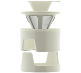 Kinto Column coffee dripper set in white for 1 cup
