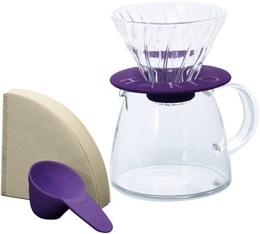 Kit Hario V60 conqiue 2 tasses violet