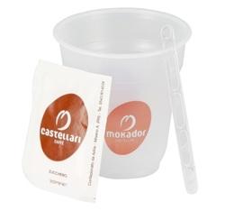 Super Kit Café Mokador Castellari : 200 gobelets + touillettes + sucres