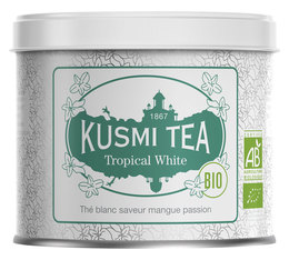 Kusmi Tea Organic Tropical White Tea Blend - 90g Loose Leaf Tin