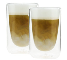 PYLANO set of 2 'Mila' double wall glasses - 350ml capacity