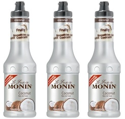 Lot de 3 Smoothies Fruit de Monin - Coco - 3 x 50 cl