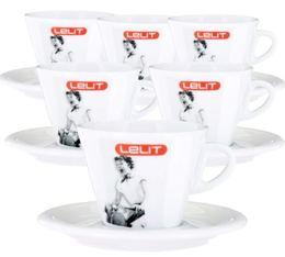 Lot de 6 tasses + sous tasses cappuccino 19cl - Lelit
