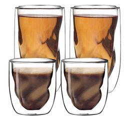 4 verres Elements Terre QDO double paroi - 2 x 7.5cl et 2 x 38cl