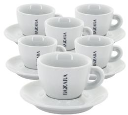 Bezzera Set of 6 Cappuccino Cups and Saucers - 15cl