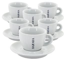 6 tasses et sous-tasses cappuccino Bazzara