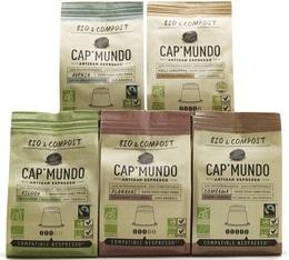 Pack découverte Cap'Mundo - 50 capsules Bio & Compost pour Nespresso