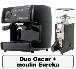 Lot Oscar noire Nuova Simonelli + Moulin à café Eureka