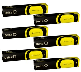 Lot Capsules DeltaQ Qonvivium delta cafés 6 x 10 capsules