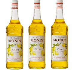 Lot de 3 Sirops Monin - Citron - 3 x 1 L