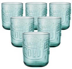 6 verres Cold Brew turquoise 35 cl KINTO